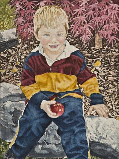 Joanne Polubiec Boy with Apple